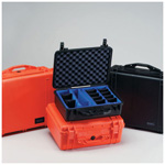 Pelican 1550 Case, 18.43inch x 14.00inch x 7.62inch, Orange w/o Foam