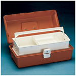 Flambeau Model 1702 Medical Box, 16 1/2inch L x 8 3/4inch W x 7 1/2inch D