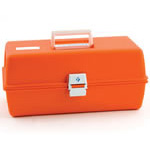 Flambeau Model 1772 Medical Box, 16 1/2inch L x 8 3/4inch W x 7 1/2inch D, Orange