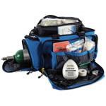 Oxygen/Trauma/Airway Deployment Kit, 23inch L x 6 1/2inch W x 14 1/4inch D, Blue, Fluid Resistant