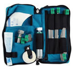 Propak Compact Intubation Kit, 5 1/2 Inches Long x 11 1/2 Inches Wide x 2 Inches Deep, Teal