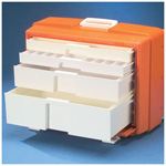 Flambeau Drug Box, 4-Drawer, 19 1/2inch L x 10 3/8inch W x 15inch D