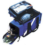 Oxygen/Airway Management Backpack, 23inch L x 8inch W x 14inch D, Royal Blue