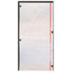 Zoll M Series 8000-0300 Thermal Paper, 90mm x 90mm x 200 Pages, Black Trace, Red Grid*Discontinued*