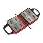 Bag, Professional Trauma Mini-Kit, Elastic Loops, Mesh Pocket, See-Through Mesh Windows, Red