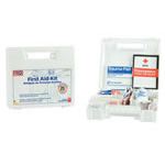First Aid Kit, 25-Person, Plastic Case, 17 Key Products, w/At-A-Glance First Aid Booklet