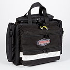 Thomas Transport Aeromed Pack, 12inch H x 14inch W x 8inch D w/Pocket Fully Extended, Black
