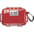 Pelican 1010 Micro Case, 4.37inch x 2.87inch x 1.68inch, Solid Red