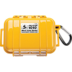 Pelican 1010 Micro Case, 4.37inch x 2.87inch x 1.68inch, Solid Yellow