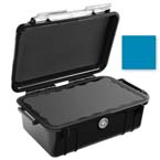 Pelican 1050 Micro Case, 6.31inch x 3.68inch x 2.75inch, Solid Blue with Black Rubber Liner