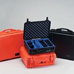 Pelican 1400 Case, 11.81inch x 8.87inch x 5.18inch, Silver w/Pick N Pluck Foam