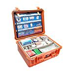 Pelican 1550EMS Case, 18.43inch x 14.00inch x 7.62inch, Orange w/EMS Organizer/Dividers
