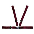 Shoulder Harness Strap System, 2-Piece Torso Strap, Adjustable, Nylon, Maroon