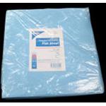 Flat Sheet, Heavy Duty, Disposable, Fluid Resistant, Light Blue, 84inch x 60inch