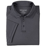 5.11 Men Performance Polo Shirt, Short Sleeve, Charcoal Grey, LG