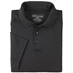 5.11 Men Performance Polo Shirt, Short Sleeve, Black, XS