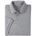 5.11 Men Tactical Polo Shirt, Short Sleeves Heather Grey, SM