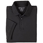 5.11 Men Tactical Polo Shirt, Short Sleeves Black, SM