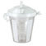 Suction Canister, 800ml, Disp, Self-Sealing Lid