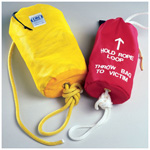 Water Rescue Rope Bag, 13inch x 6inch, Red