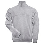 5.11 Men 1/4 Zip Job Shirt, Heather Grey, SM