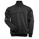 5.11 Men 1/4 Zip Job Shirt, Black, 2XL