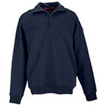 5.11 Men 1/4 Zip Job Shirt, Fire Navy - Tall , 5XL/T
