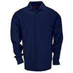 5.11 Men Tactical Polo Shirt, Long Sleeve, Dark Navy, SM