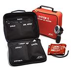 740 System 5 Cuff BP Kit, incl Palm Style Gauge, Child, SM Adult, Adult, LG Adult, Thigh Cuffs, Orange
