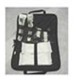 Intubation Case, Zipper Closure, Navy Blue 1000 Denier