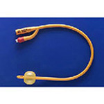 Rusch Gold Foley Catheter, 14 French, 5cc Balloon, 16inch, 2-Way w/2 Opposed Eyes *Discontinued*