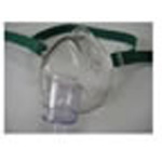 Oxygen Mask, Medium Concentration, w/7 foot 3 Channel Safety Tube, Elastic Head Strap, Infant