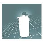 High Flow Humidifier, 350cc Bubble, Disposable, 6-15 LPM