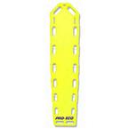 Pro-Eco Backboard, w/o Pins, 72inch x 16inch x 2 1/4inch, Neon Yellow