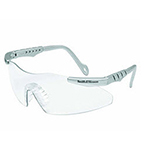 Smith and Wesson Magnum 3G Safety Glasses, Platnium Frame, Clear Lens