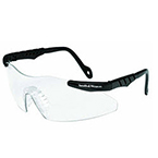 Smith and Wesson Magnum 3G Mini Safety Glasses, Black Frame, Clear Lens