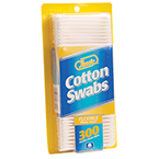 Cotton Tip Swab, Plastic, Double-Ended, Non-Sterile