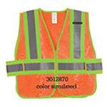 Safety Vest, Zippered, 2xl-5xl, Orange *Discontinued*