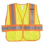 Safety Vest, Zippered, 2xl-5xl, Green *Discontinued*