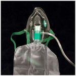 Oxygen Mask w/7 Foot Tubing, High Concentration, Partial Non-Rebreather, Elongated, Adult