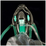 Total Non-Rebreathing Elongated High Concentration Mask, 7ft Oxygen Tube, Reservoir Bag, Adult