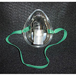 Oxygen Mask w/Elastic Strap, Aerosol, Disposable, Pediatric