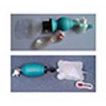 Resuscitator BVM, Corrugated Tubing O2 Reservoir, Pressure Port Adapter, Infant