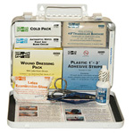First Aid Kit, Pac-Kit, Weatherproof Metal Case, 25 Person