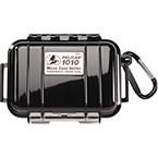 Pelican 1010 Micro Case, 4.37 inch x 2.87 inch x 1.68 inch, Solid Black