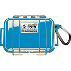Pelican 1010 Micro Case, 4.37 inch x 2.87 inch x 1.68 inch, Solid Blue