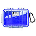 Pelican 1020 Micro Case, 5.31 inch x 3.56 inch x 1.68 inch, Solid Blue