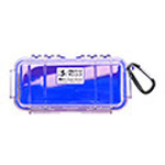 Pelican 1030 Micro Case, 6.37 inch x 2.62 in x 2.06 in, Solid Blue