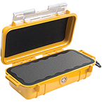Pelican 1030 Micro Case, 6.37 inch x 2.62 inch x 2.06 inch, Solid Yellow
