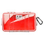 Pelican 1060 Micro Case, 8.25 in x 4.25 in x 2.25 in, Solid Red